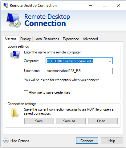 RDP Connection Image