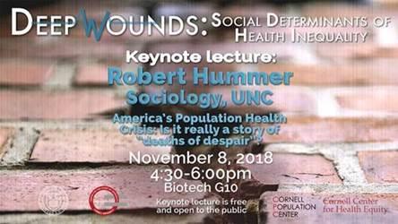 Deep Wounds, Robert Hummer, November 8 2018 4:30-6:00pm Biotech G10